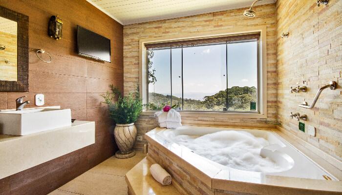 Quarto duplo sauna Campos Jordão Pousada Alto da Boa Vista